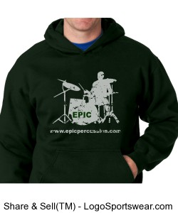 EPIC Hoodie - Forest Green Design Zoom