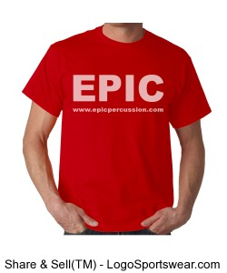 EPIC T-shirt - Red Design Zoom